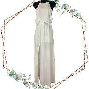 show me your mumu heather halter maxi dress XS